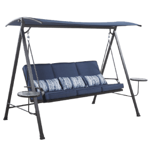 Living Accents 3-Person Swing with Tables for $250