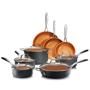Gotham Steel Pro Hard Anodized Pots and Pans 13 Piece Premium Cookware Set with Ultimate Nonstick for $153