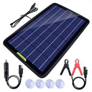 Eco-Worthy 12V 10W Solar Car Battery Charger and Maintainer for $40