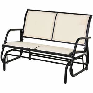 Outsunny 2-Person Outdoor Glider Bench Double Rocking Chair Loveseat w/Armrest for Patio Garden for $165