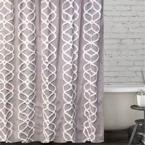 BCBGMAXAZRIA Interlocked Ogee Tufted Shower Curtain for $14