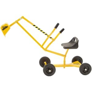 The Big Dig and Roll Ride-On Working Excavator with Wheels for $55