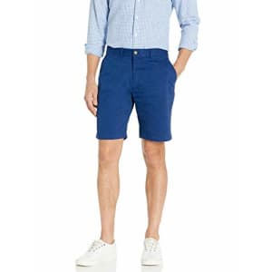 Tommy Hilfiger Men's Casual Stretch Chino Shorts, Blue Depths, 40 for $43