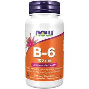 Now Foods NOW Supplements, Vitamin B-6 (Pyridoxine HCl) 100 mg, Cardiovascular Health*, 100 Capsules for $7