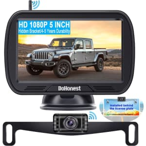 DoHonest 1080p Bluetooth Backup Camera w/ Monitor for $66