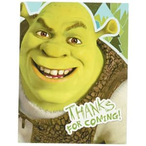Hallmark Shrek Forever After Thank-You Notes (8) Party Supplies for $9