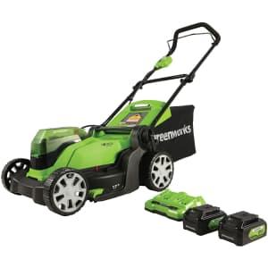 "Greenworks 48V Cordless 17"" Lawn Mower for $300"