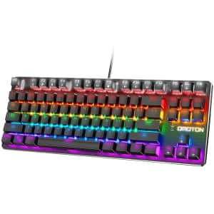 Omoton TKL Mechanical Gaming Keyboard for $23