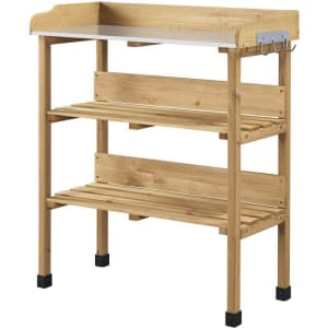 Yaheetech Firwood Potting Bench for $73