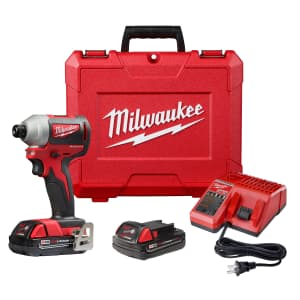 """Milwaukee M18 18V 1/4"""" Cordless Brushless Compact Impact Driver Kit for $149 in cart"""