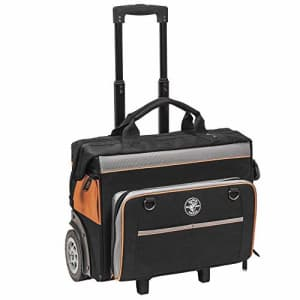 Klein Tools 55452RTB Tool Bag, Water Resistant Tool Storage Organizer Rolls on Rugged 6-Inch for $180