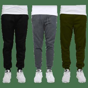 Men's Fleece Sweatpants: 3 for $35