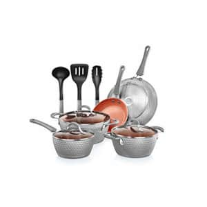 NutriChef Nonstick Cookware Excilon |Home Kitchen Ware Pots & Pan Set with Saucepan Frying Pans, for $95