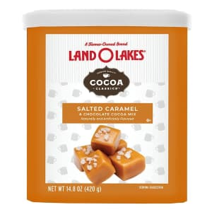 Land O'Lakes Hot Cocoa Mix 14.8-oz. Canister for $4