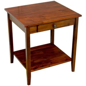 """Casual Contemporary Living 22"""" Solid Acacia Wood End Table for $76"""