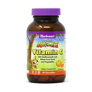 Bluebonnet Nutrition Rainforest Animalz Vitamin C Animal Shape Chewable Tablets, 250mg of Vitamin for $10