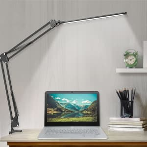 Beetwo LED Swing Arm Desk Lamp with Clamp for $21