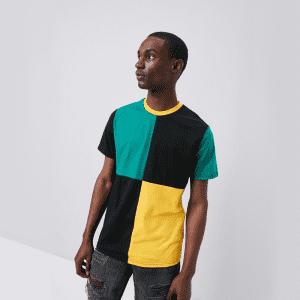 Forever 21 Men's Colorblock Crew Neck T-Shirt for $8