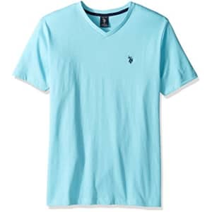 U.S. Polo Assn. Men's V-Neck T-Shirt, Artist Aqua Heather, XL for $18