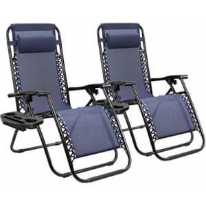 Homall Zero Gravity Chair Patio Folding Lawn Lounge Chairs Outdoor Lounge Gravity Chair Camp for $80