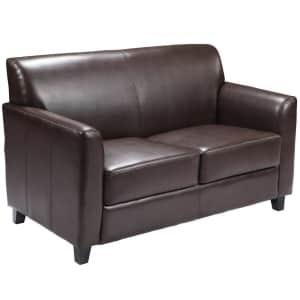 "Flash Furniture Hercules Diplomat 52"" LeatherSoft Loveseat for $395"
