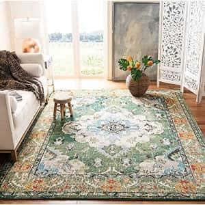 SAFAVIEH Monaco Collection MNC243F Boho Chic Medallion Distressed Non-Shedding Living Room Bedroom for $95