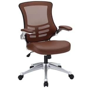 Modway Attainment Mesh Vinyl Modern Office Chair in Tan for $200