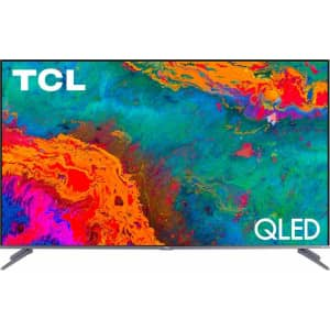 "TCL 55"" 4K HDR QLED UHD Roku Smart TV for $600"