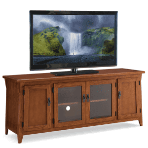 """Leick Furniture Canted Side Mission 60"""" 4-Door TV Console for $351"""