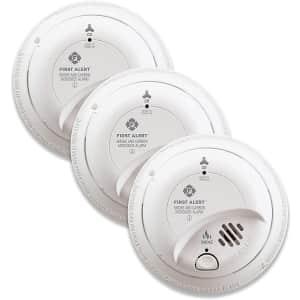 First Alert Smoke Detector/Carbon Monoxide Alarm 3-Pack for $100