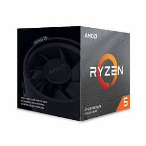 AMD Ryzen 5 3600X 6-Core, 12-Thread Unlocked Desktop Processor with Wraith Spire Cooler for $290