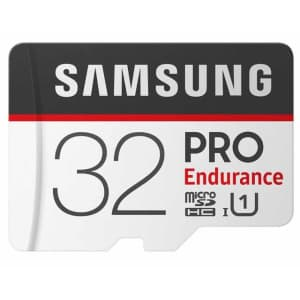 Samsung Pro Endurance 32GB micro SD Card w/ Adapter for $8