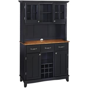 Home Styles Buffet-of-Buffets Solid Wood Large Server w/ Oak Top & Hutch for $441