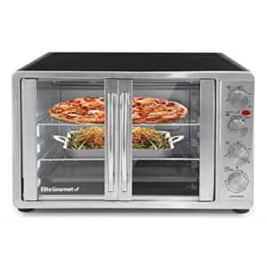 Elite Gourmet ETO-4510M Double French Door Countertop Convection Toaster Oven, Bake Broil Toast for $92