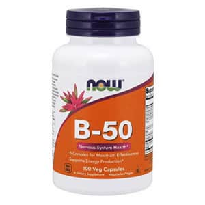 Now Foods NOW Supplements, Vitamin B-50 mg, Energy Production*, Nervous System Health*, 100 Veg Capsules for $11