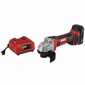 Skil 20V 4-1/2 Inch Angle Grinder, Includes 2.0Ah PWRCore 20 Lithium Battery and Charger - AG290202 for $77