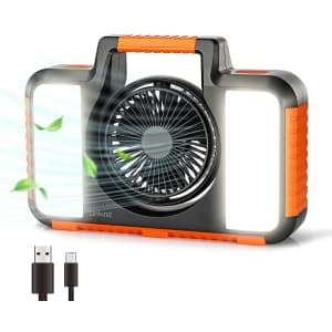 Linkind 15W LED Portable Work Light w/ Fan for $20