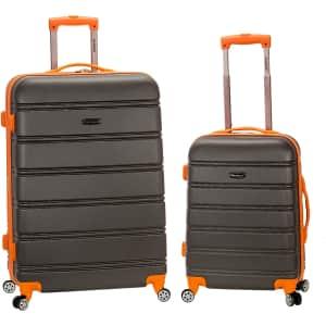 Rockland Melbourne 2-Piece Hardside Spinner Luggage Set for $99