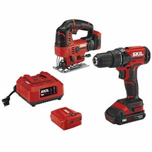 SKIL 20V 2-Tool Combo Kit: 20V Cordless Drill Driver and Jigsaw, Includes 2.0Ah PWRCore 20 Lithium for $121