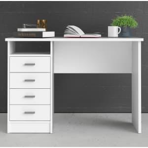 """Tvilum Warner 43"""" 4-Drawer Writing Desk for $73 w/ padding"""