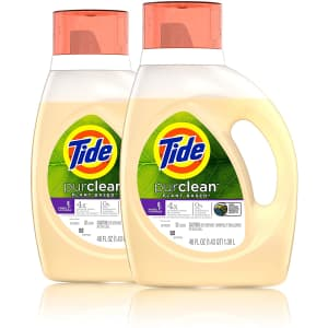 Tide 46-oz. Purclean Plant-Based Liquid Laundry Detergent 2-Pack for $13