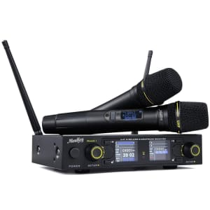 Moukey Wireless Microphone System for $98
