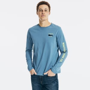 Nautica Jeans Co. Men's Graphic T-Shirt for $10