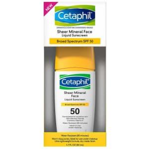 Cetaphil SPF 50 Sheer Mineral Face 1.7-oz. Liquid Sunscreen for $7.57 via Sub & Save