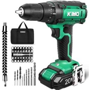 Kimo 20V Cordless Drill Set for $55