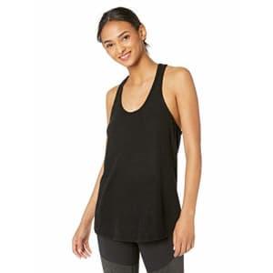 Splendid Women's Studio Activewear Athletic Fitness Workout Racerback Tank, Black, M for $29