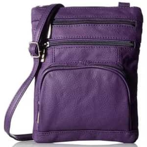 Super Soft Leather Crossbody Bag for $18