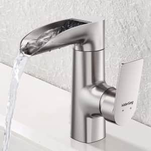WaterSong Waterfall Bathroom Faucet for $67