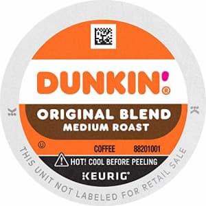 Dunkin Donuts Dunkin' Original Blend Medium Roast Coffee, 88 Keurig K-Cup Pods for $56