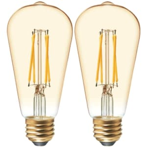 ST19 LED Vintage Light Bulb 2-Pack for $8